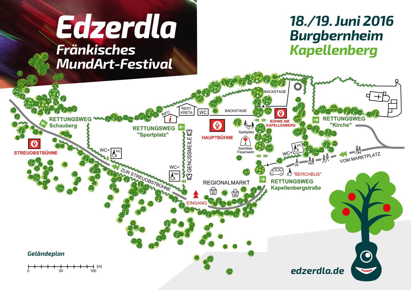 Lageplan Edzerdla MundArt-Festival